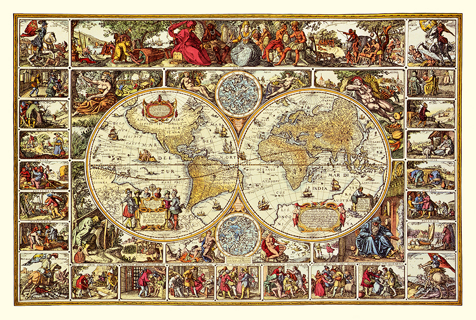 Visscher World 1617 16x24